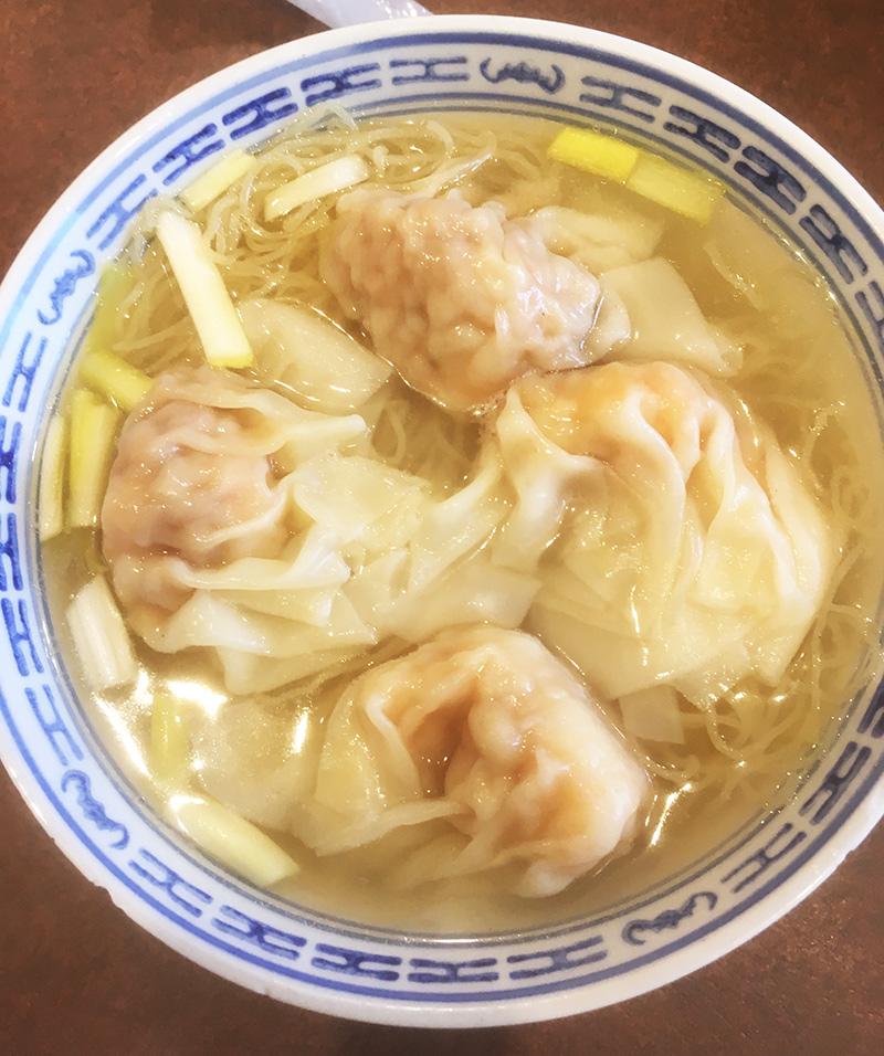 横浜中華街 南粤美食ランチ エビワンタン麺