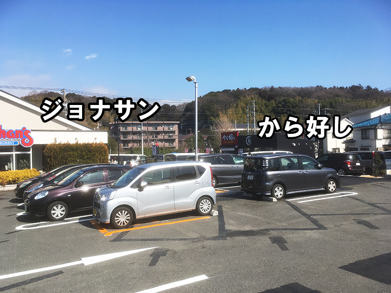 から好し 横浜岡津店 駐車場あり ジョナサンと同じ駐車場