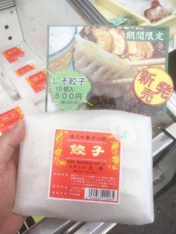 シソ餃子 夏限定で販売開始