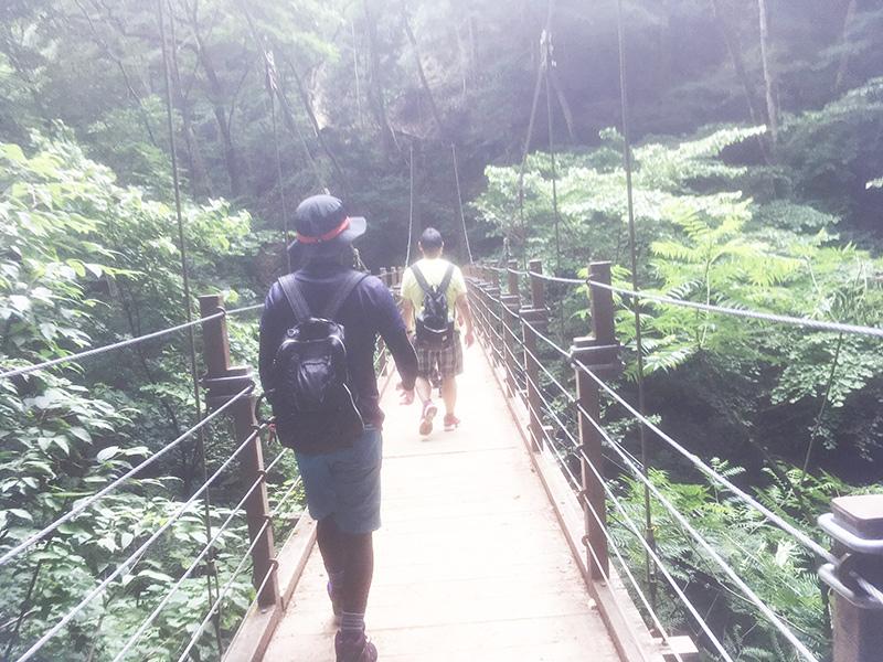 高尾山 4号路 吊橋