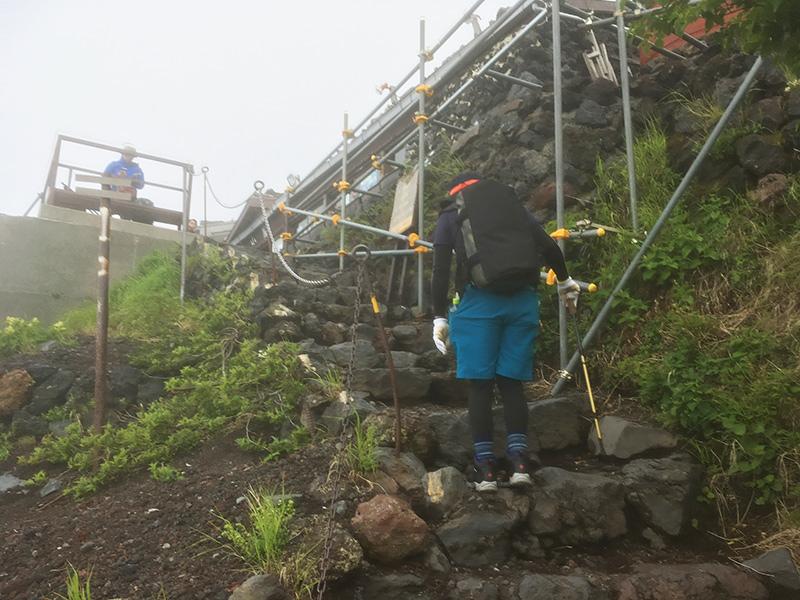 富士山 山小屋の手前