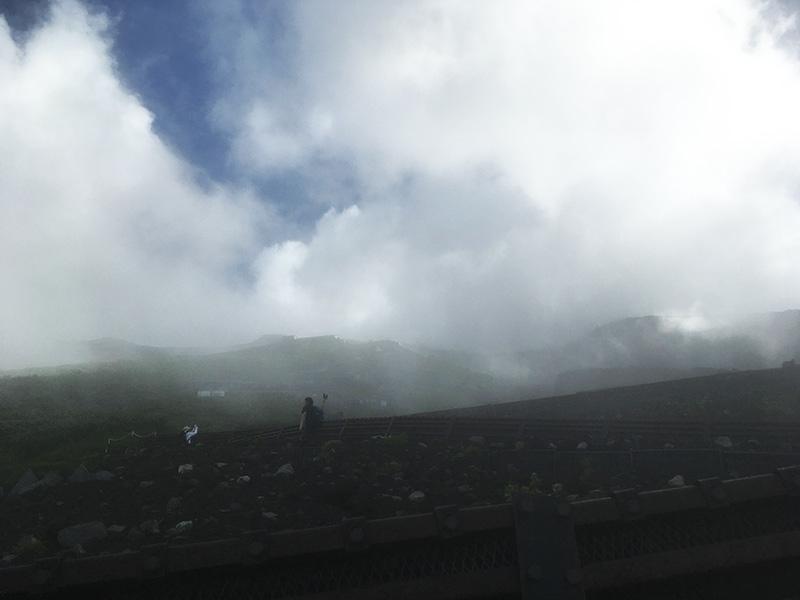 富士山6合目から7合目の道のり