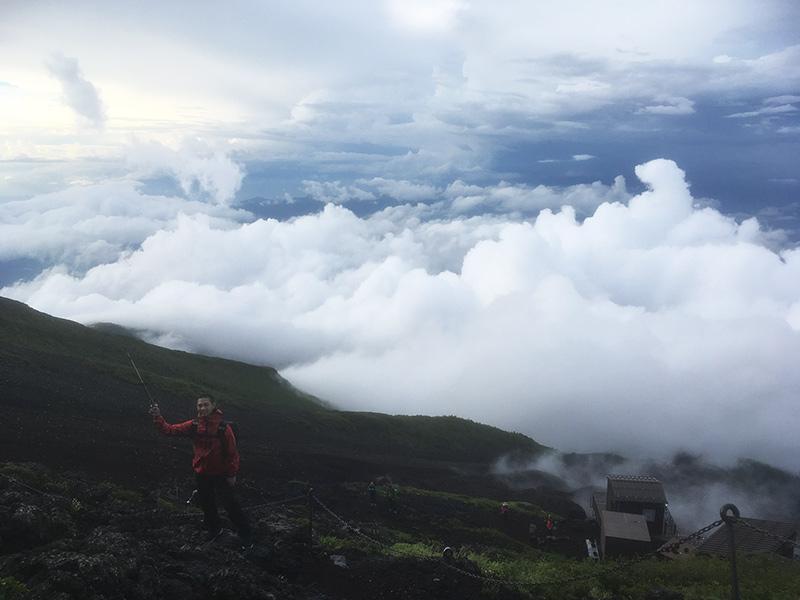 山の天気は変わりやすい 富士山
