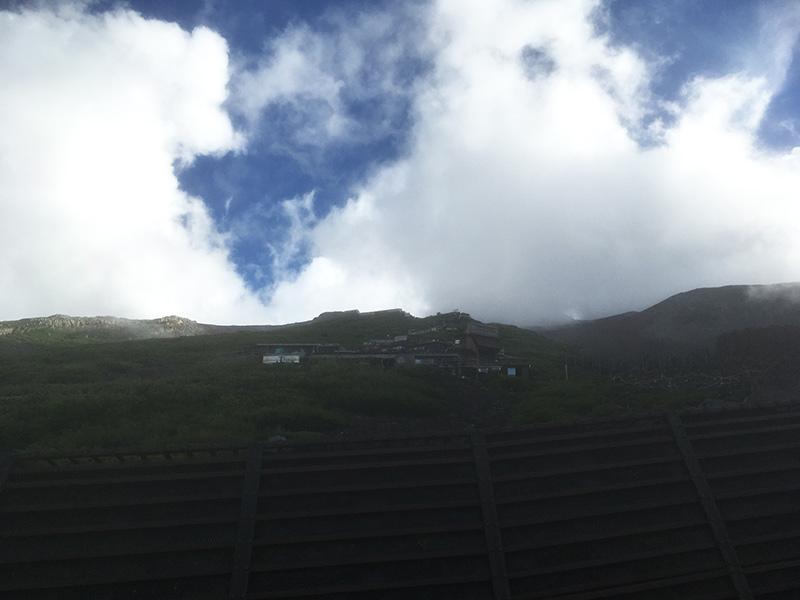 6合目から7合目の道のり 富士登山