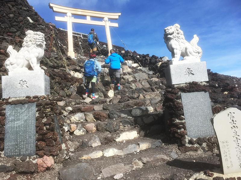 富士山頂手前