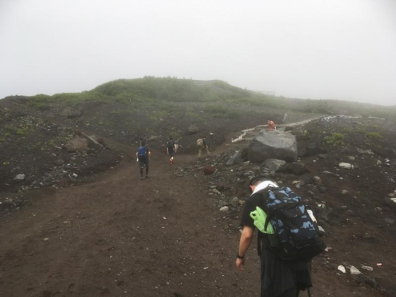 富士山登り始め