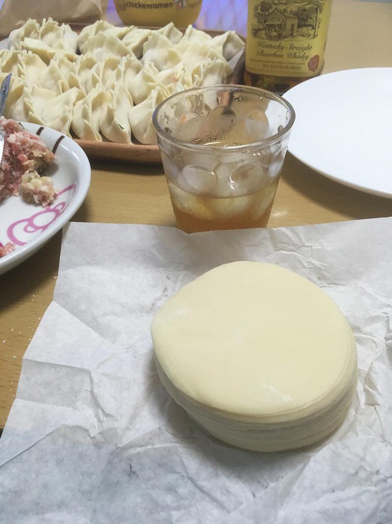 永楽製麺の餃子の皮 自家製餃子